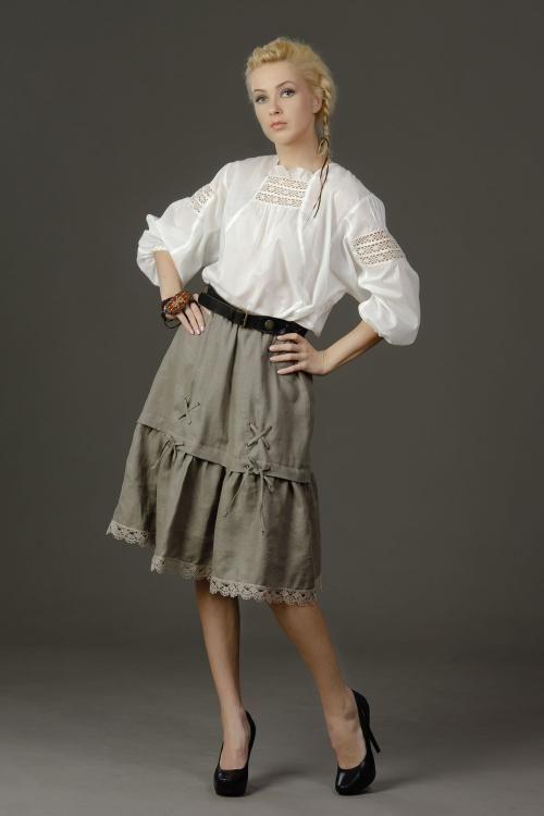 """Skirt women's """"Springs"""" made of linen"""