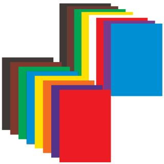 A set of colored cardboard and of A4 paper and a coated (glossy), 8+8 colors, in a folder, BRAUBERG, 200х290 mm, rainbow