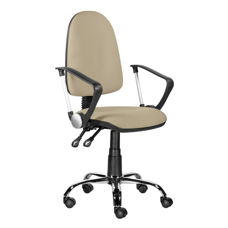 "Armchair ""Mango Lux"", S-109, with armrests, chrome, sand"