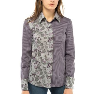 Blouse women's flora gray