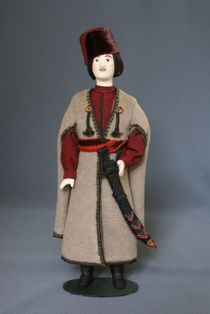 Doll gift. The ordinary costume of a Cossack. Kuban. The middle of the 18th century, the Cossacks.