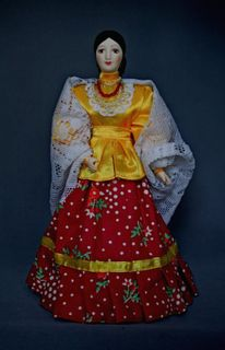 Doll gift. Summer costume of the don Cossacks. The end of the 19th century.
