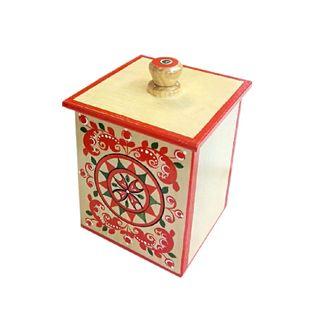 "The little box ""Severodvinsk painting"" square 13 cm"