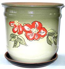 Pots ceramic 'Nine' with decor 7 l