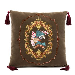 "Pillow sofa decorative ""Hatter"", Torzhokskiy seamstresses, brown"