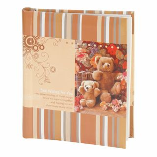 Photo album BRAUBERG for 10 magnetic sheets, 23х28 cm, the Teddy bears, brown and beige.