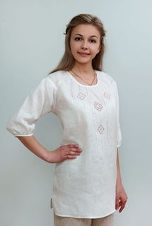 Blouse womens linen 9-200