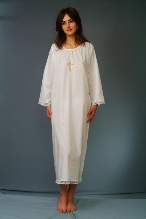 Baptismal shirt women's cotton