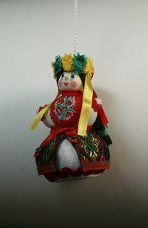 Doll gift. Ukrainian costume.