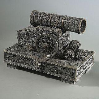 "Kazakov Filigree / Souvenir ""Tsar Cannon"" silvering"