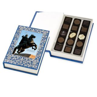 """Chocolate book with sweets """"St. Petersburg"""" """"150g"""