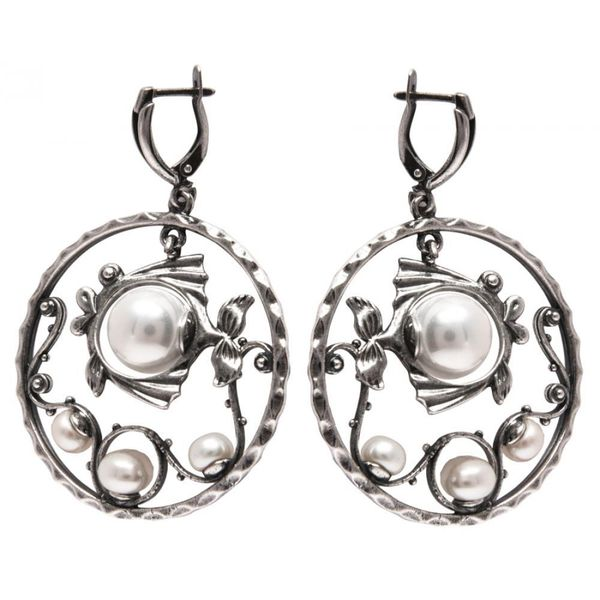 Earrings 30176 'Pearl fish'