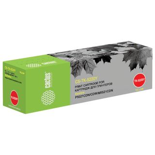 Toner cartridge CACTUS (CS-TK5220Y) for KYOCERA Ecosys P5021cdn / cdw / M5521cdn, yellow, 1200 pages.