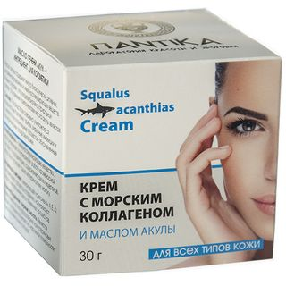 Cream with sea collagen and shark oil