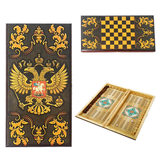 "Backgammon ""Sovereign"" in the village. large box 60 x 30 x 3.5 cm"