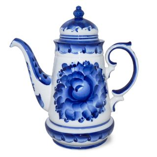Coffee pot enchantress 2nd grade, Gzhel Porcelain factory