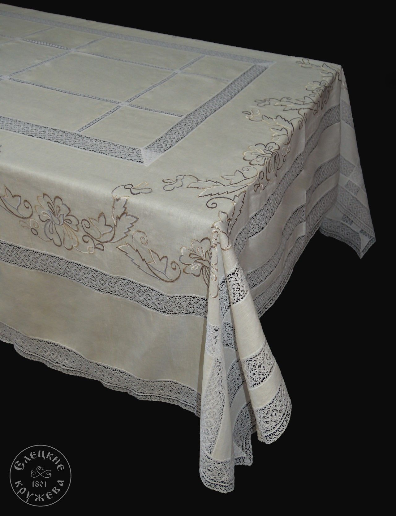 """Yelets lace / Table set """"Tablecloth and napkins"""" С2175"""