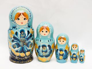 Matryoshka 5 seats Flower - Souvenir