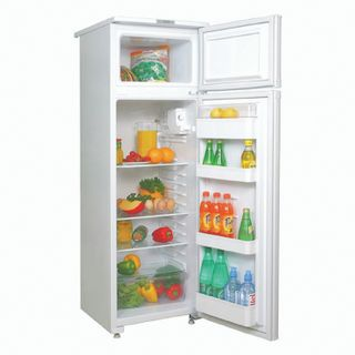 SARATOV refrigerator 263 KSD-200/30, two-chamber, volume 195 liters, top freezer 30 liters, white