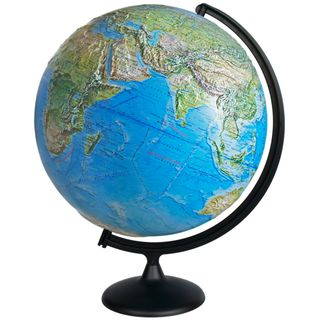 Physical relief globe diameter 420 mm