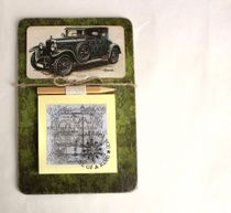 Handmade Men's Souvenir Fridge Magnet Retro Car with Note Pad