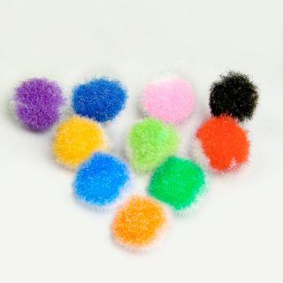 POM-poms for creativity, multi color, 8 mm, 100 PCs., TREASURE ISLAND