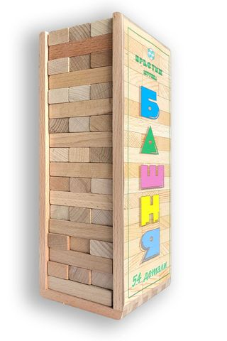 TOWER 54 parts in beech box for children from 5 years
