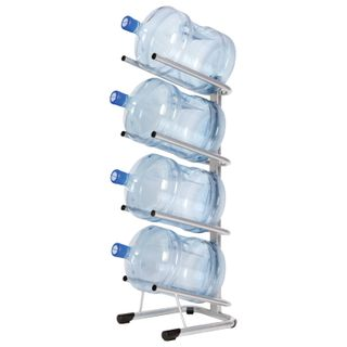 HOT FROST water rack, 4 bottles, metal, silver