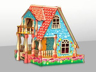 PUPPY DOMIC HOUSE COLORED