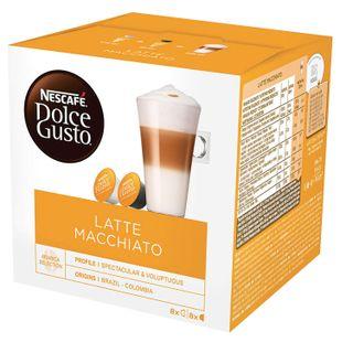 Capsules for NESCAFE coffee machines Dolce Gusto Latte Macchiato, natural coffee 8 pcs. x 6.5 g, milk capsule 8 pcs. x 17.8 g
