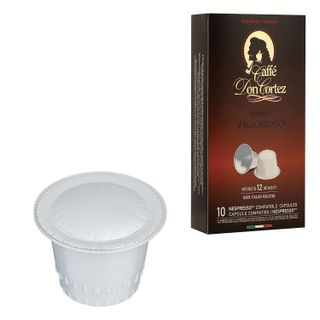 Capsules for NESPRESSO VIGOROSO coffee machines, natural coffee, Italy, 10 pcs. x 5.2 g, DON CORTEZ
