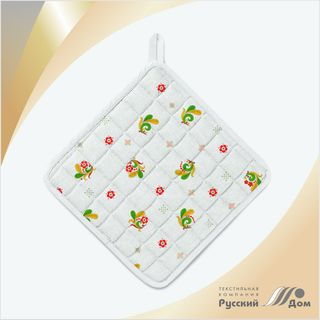 Quilted potholder Embroidery