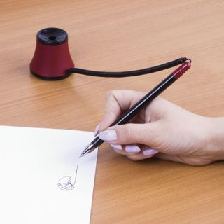 """Ballpoint pen oil table BRAUBERG """"Stand-Pins No. 1"""", BLUE case, black/red, all 0.35 mm"""