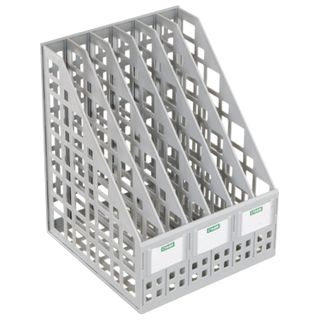 Tray vertical paper of STAMM (245х240х300 mm), 6 branches, net, assembled, gray