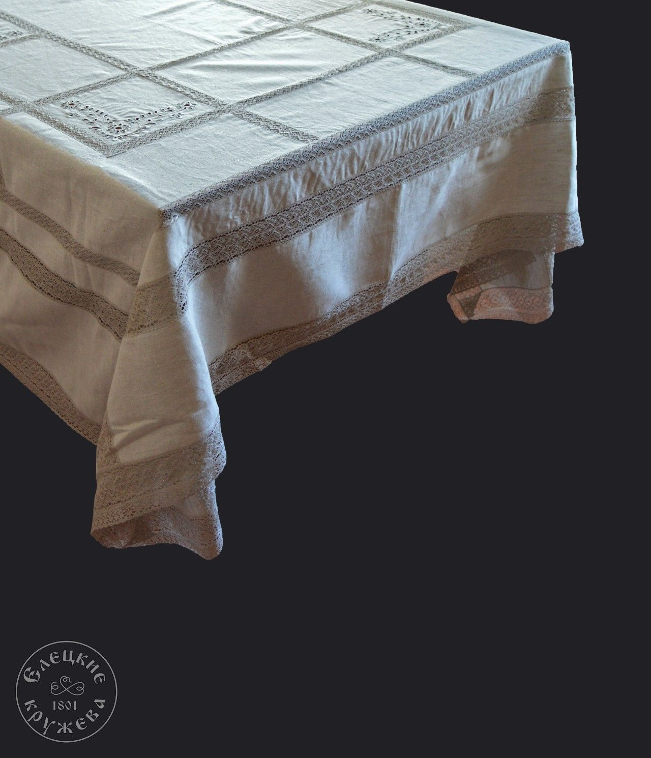 """Yelets lace / Table set """"Tablecloth and napkins"""" С2160"""