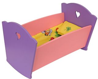 "Krasnokamsk toy / Doll furniture ""Bed with bed linen"""
