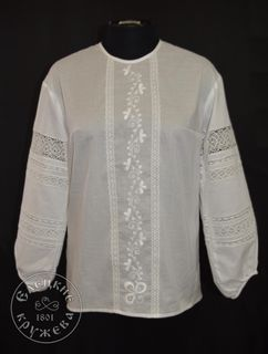 Womens linen tunic with embroidery С11758