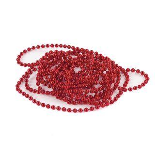 GOLDEN TALE / Christmas tree beads diameter 4 mm, length 2.7 m, red