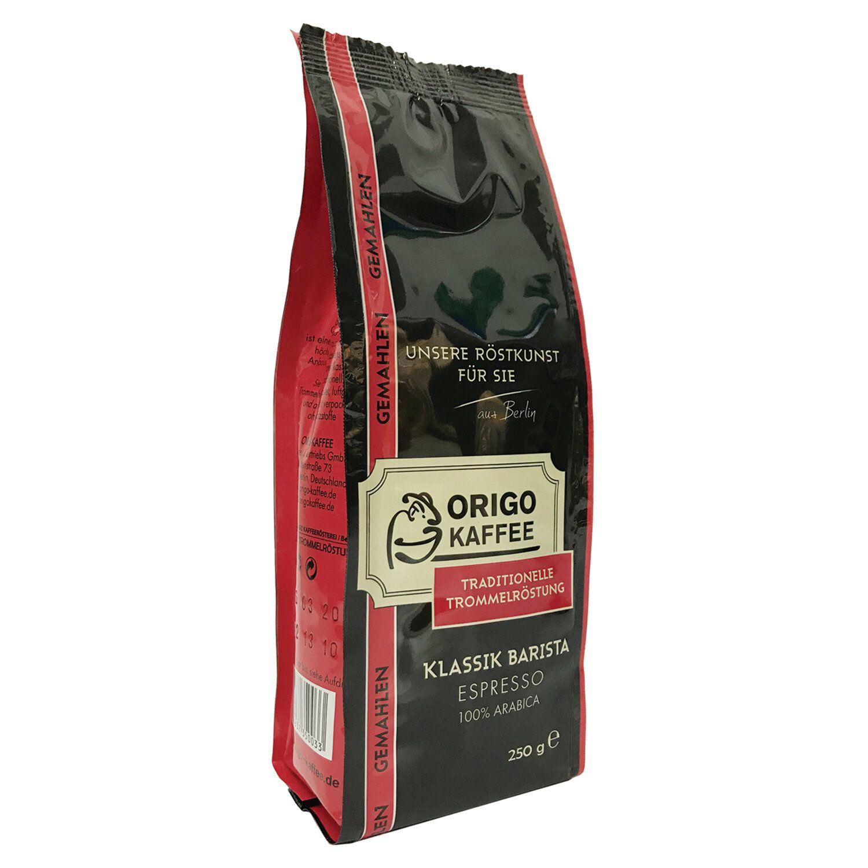 "ORIGO / Ground coffee ""Klassik Barista"", vacuum package 250 g"