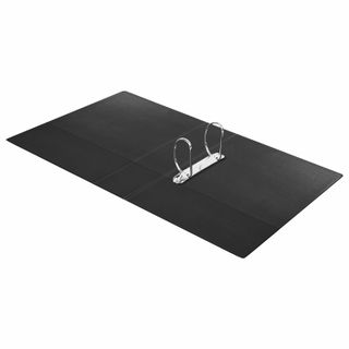 Folder on the 2 rings BRAUBERG, cardboard/PVC, 75mm, black, up to 500 sheets (double life)