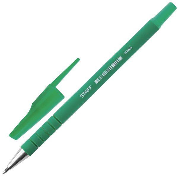 Ballpoint pen ROSE, green, rubber housing green, host of 0.7 mm, roll 0.35 mm