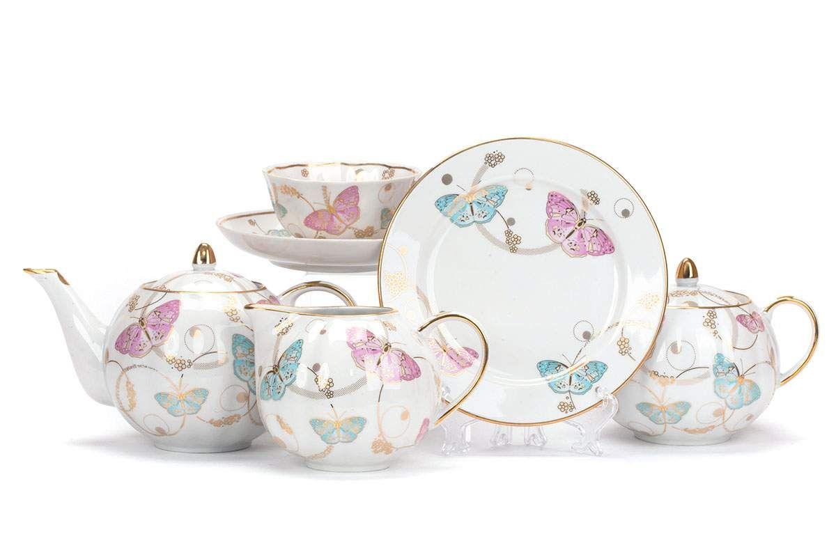 Dulevo porcelain / Tea set 21 pcs Tulip Summer Symphony