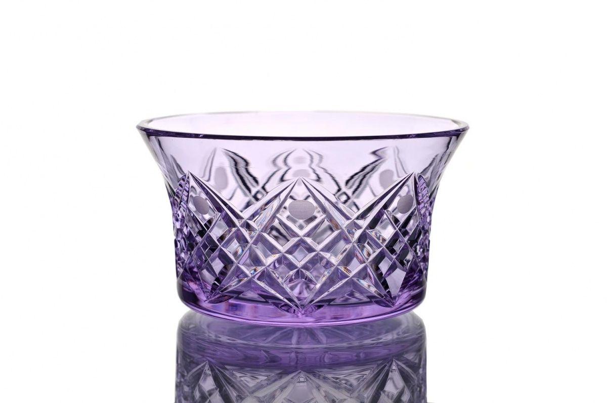 "Crystal vase for the table ""Swedish"" light purple"