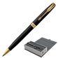 Ballpoint pen PARKER 'Sonnet Matt Black GT Core' case, black lacquer, gold plated parts, black - view 1