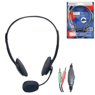 DEFENDER / Headphones with microphone (headset) HN-102, wired, 1.8 m, stereo, with headband, volume control