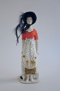 Female costume sketch by Bakst. Doll gift
