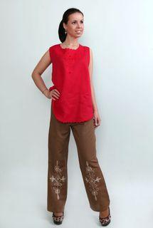 Pants womens linen 9-196