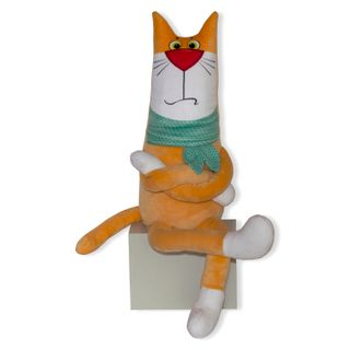 "Anti-stress toy ""cat gentleman"" orange (1)"