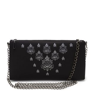 "Bag ""Agata"" black with silver embroidery"