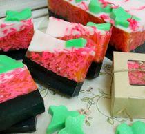 Handmade lump soap with Matcha Tea and shungite 500 g milotto004427
